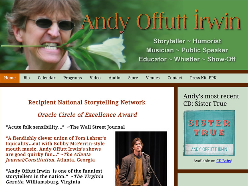 Andy Offutt Irwin website