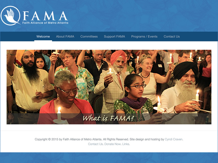 Faith Alliance of Metro Atlanta website