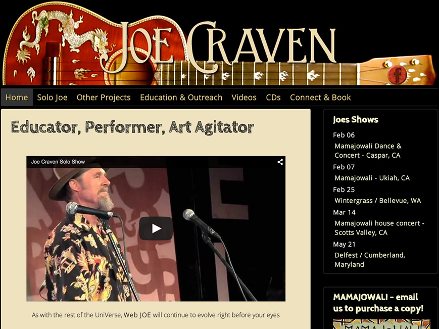 Joe Craven website