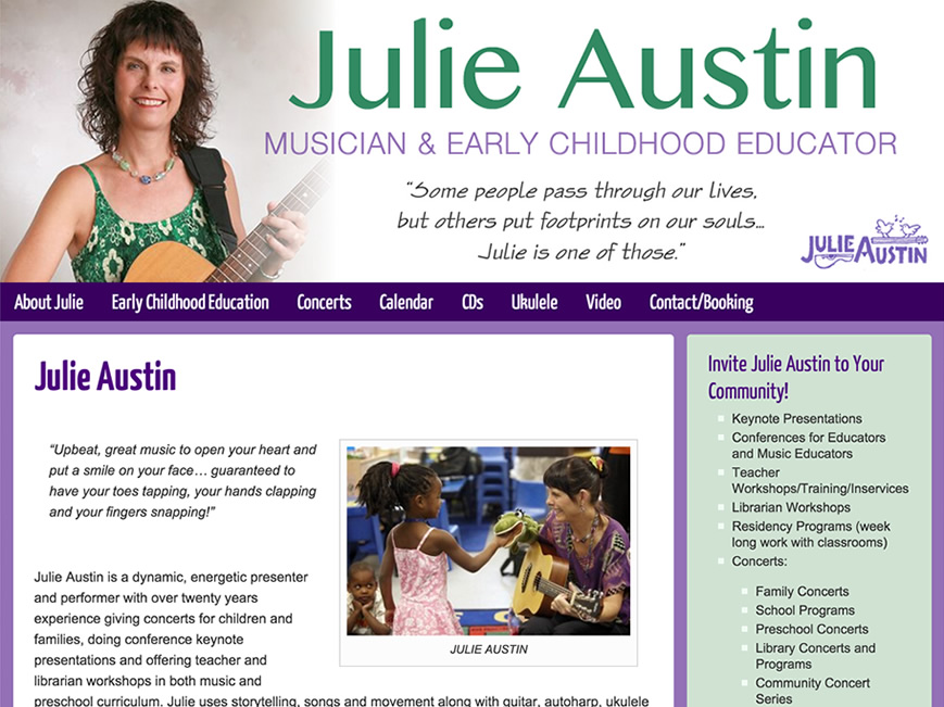 Julie Austin website