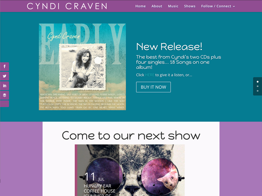 Cyndi Craven Music website