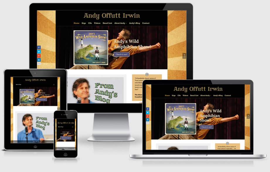 AndyIrwin.com website
