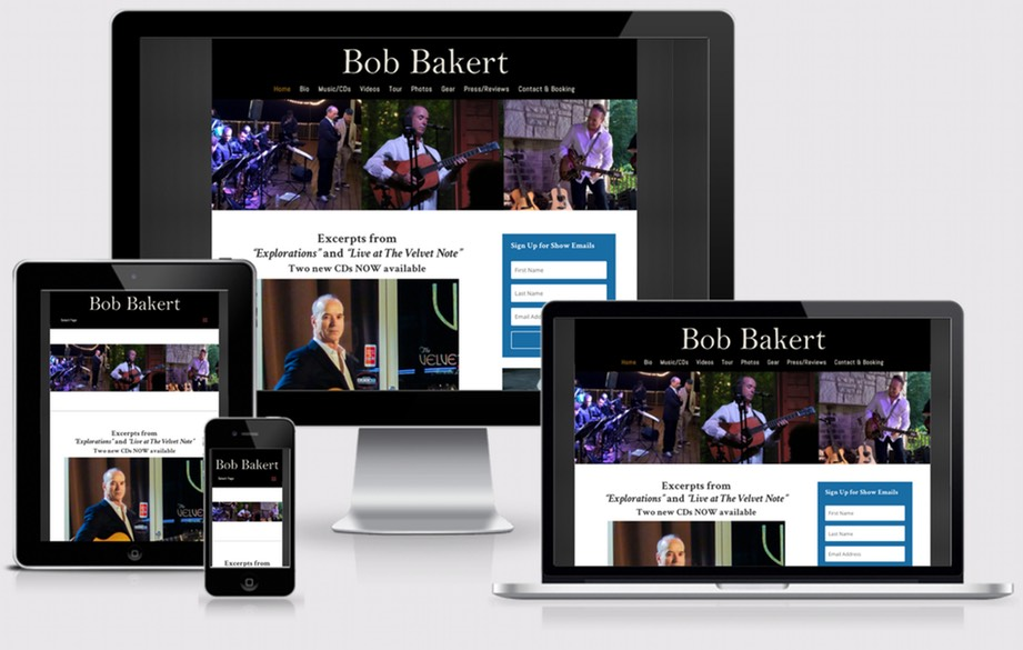 Bob Bakert Music website