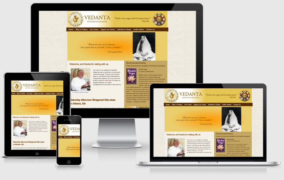 Vedanta Center of Atlanta website